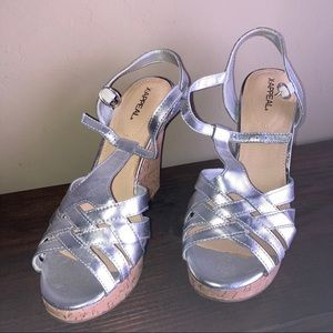 X•APPEAL Silver Sandals